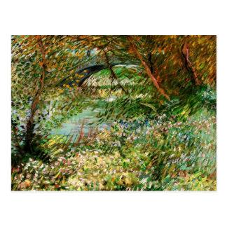 Bancos de Van Gogh del Sena Pont de Clichy en Tarjetas Postales