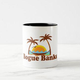 Bancos del Bogue Taza De Café De Dos Colores