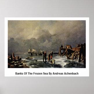 Bancos del mar congelado de Andreas Achenbach Poster