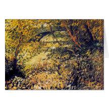 Bancos del Sena en la primavera Vincent van Gogh Tarjeta De Felicitación