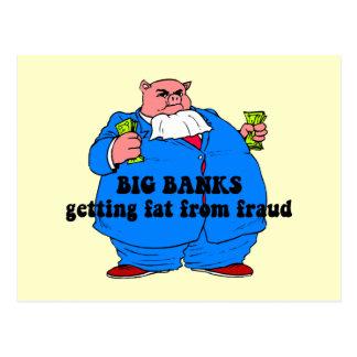 Bancos divertidos tarjetas postales