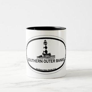 Bancos externos meridionales taza de dos tonos
