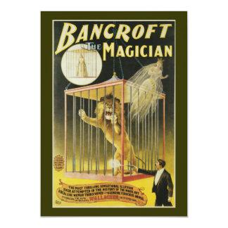 """Bancroft el mago c 1897 invitación 5"""" x 7"""""""