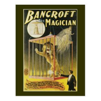 Bancroft el mago c 1897 postal
