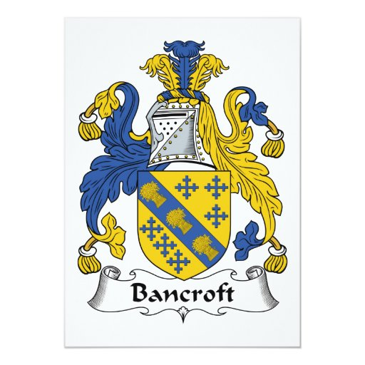 Bancroft Family Crest Cards