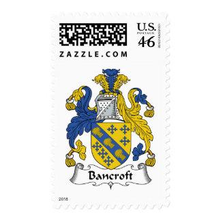Bancroft Family Crest Postage Stamp