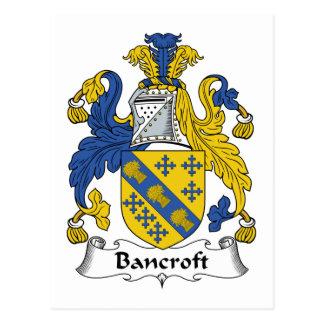 Bancroft Family Crest Postcard