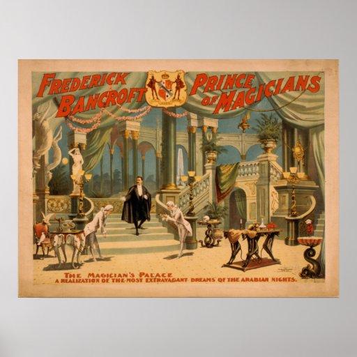 BANCROFT Magician Illusionist VAUDEVILLE Poster