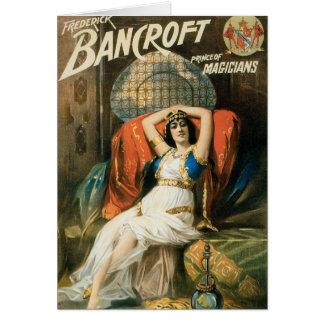 Bancroft ~ Prince of Magicians Vintage Magic Act Card