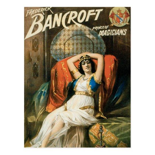 Bancroft ~ Prince of Magicians Vintage Magic Act Postcard