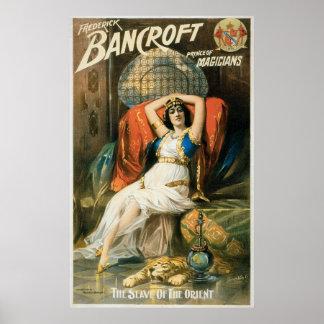 Bancroft ~ Prince of Magicians Vintage Magic Ad Poster