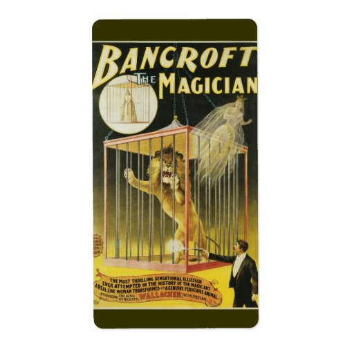 Bancroft the Magician c 1897 Shipping Label