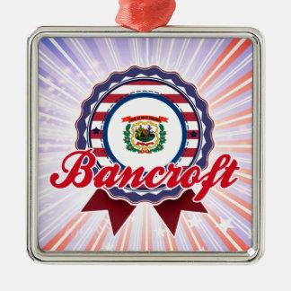 Bancroft, WV Adorno Navideño Cuadrado De Metal