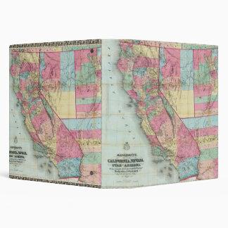 Bancroft's Map Of California, Nevada Binder