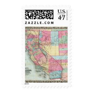 Bancroft's Map Of California, Nevada Postage