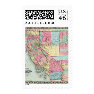 Bancroft's Map Of California, Nevada Postage Stamp