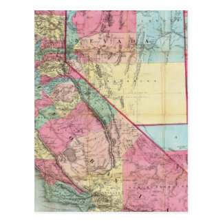 Bancroft's Map Of California, Nevada Postcard