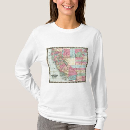 Bancroft's Map Of California, Nevada T-Shirt
