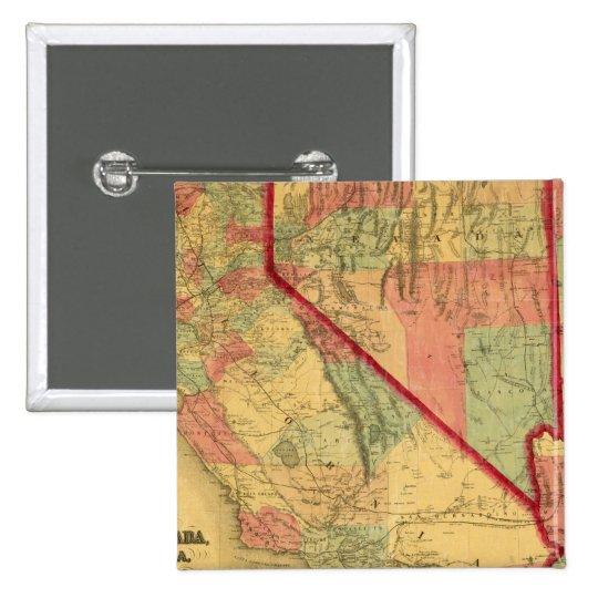 Bancroft's Map Of California, Nevada, Utah Button