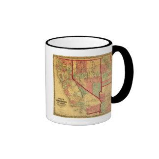 Bancroft's Map Of California, Nevada, Utah Ringer Mug