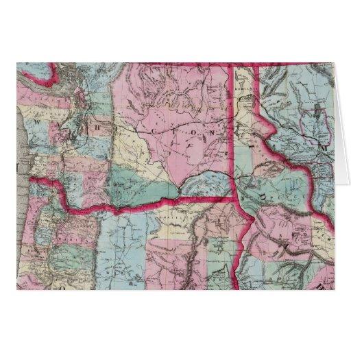 Bancroft's Map Of Oregon, Washington, Idaho Card