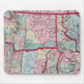 Bancroft's Map Of Oregon, Washington, Idaho Mouse Pad