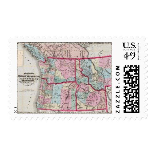 Bancroft's Map Of Oregon, Washington, Idaho Postage