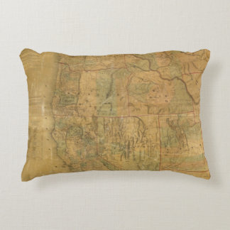 Bancroft's Map Of The Pacific States Accent Pillow
