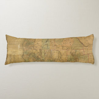 Bancroft's Map Of The Pacific States Body Pillow