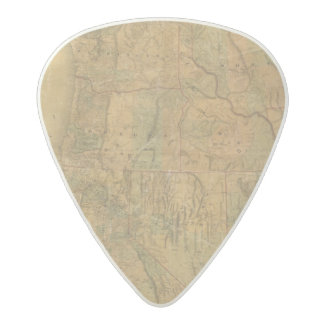 Bancroft's Map Of The Pacific States Acetal Guitar Pick