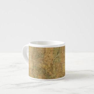 Bancroft's Map Of The Pacific States Espresso Mug