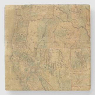 Bancroft's Map Of The Pacific States Stone Beverage Coaster