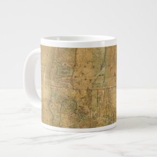 Bancroft's Map Of The Pacific States Large Coffee Mug