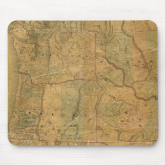 Bancroft's Map Of The Pacific States Mouse Pad