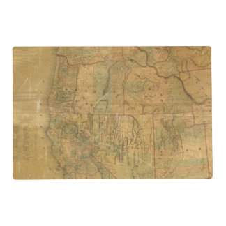 Bancroft's Map Of The Pacific States Laminated Placemat