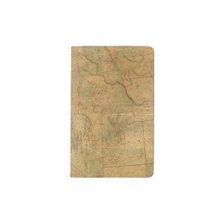 Bancroft's Map Of The Pacific States Pocket Moleskine Notebook