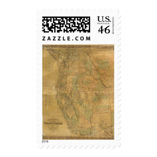 Bancroft's Map Of The Pacific States Postage