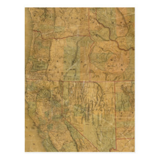 Bancroft's Map Of The Pacific States Postcard