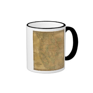 Bancroft's Map Of The Pacific States Ringer Mug