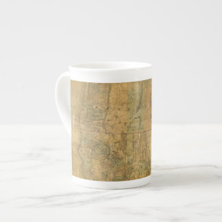 Bancroft's Map Of The Pacific States Porcelain Mugs