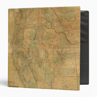 Bancroft's Map Of The Pacific States Vinyl Binder