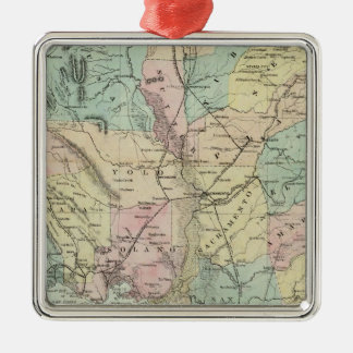 Bancroft's New Map Of Central California Metal Ornament