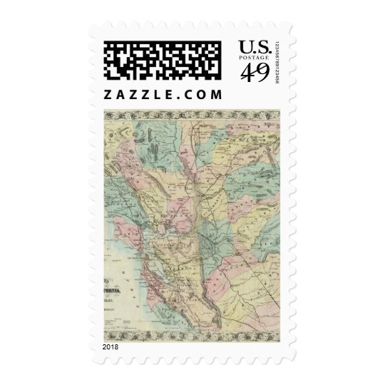 Bancroft's New Map Of Central California Postage