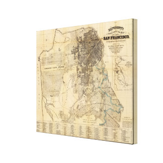 Bancroft's official Guide Map of San Francisco Canvas Print