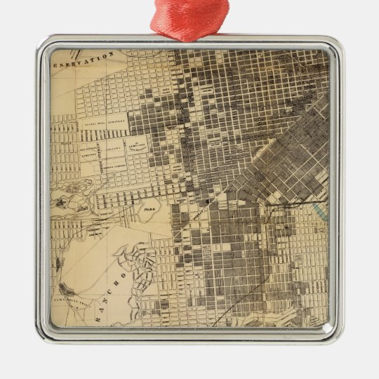 Bancroft's official Guide Map of San Francisco Metal Ornament