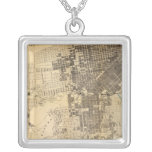 Bancroft's official Guide Map of San Francisco Square Pendant Necklace
