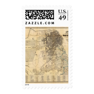 Bancroft's official Guide Map of San Francisco Postage Stamp