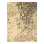 Bancroft's official Guide Map of San Francisco Postcard