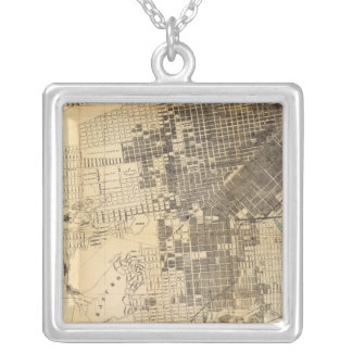Bancroft's official Guide Map of San Francisco Silver Plated Necklace