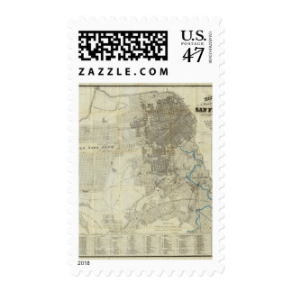 Bancroft's Official San Francisco City Map Postage